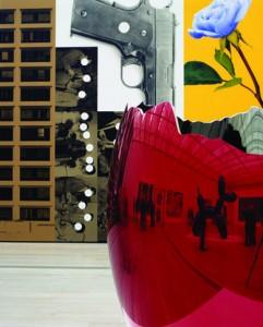 Imagen: Louise Lawler. Egg and Gun, at Large, 2008.